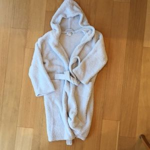 Barefoot dreams. Kids blue soft bathrobe size 6-8
